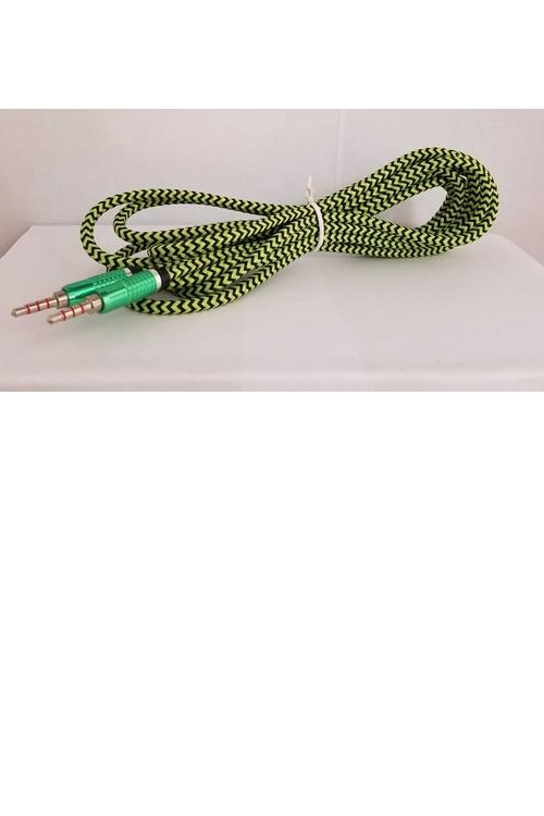 10FT Wholesale Fabric Aux Cable - MW619