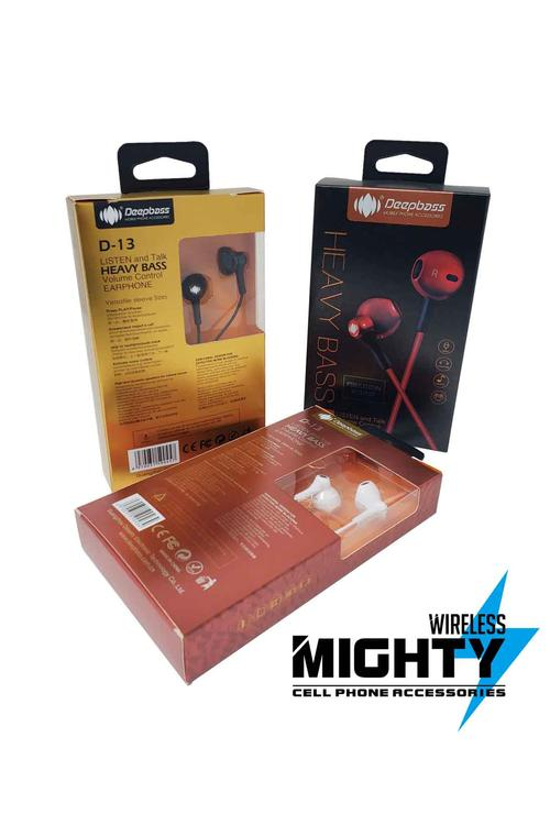 Deepbass Heavy Bass Wholesale D-13 Earphones - D13
