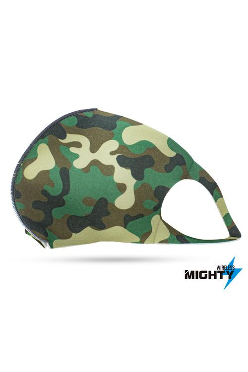 Fashion Mask - Green Camo Design - FASHMASK-GREENCAMO