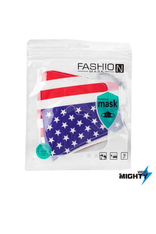 Fashion Mask - Pattern Design - USA FLAG - FASHMASK-USA