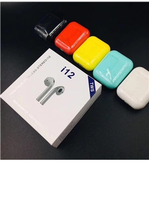 i12 Tws Wholesale Wireless Bluetooth Earphones True Touch Control Earbuds 3D Stereo Sound & Charging case - I12TWS