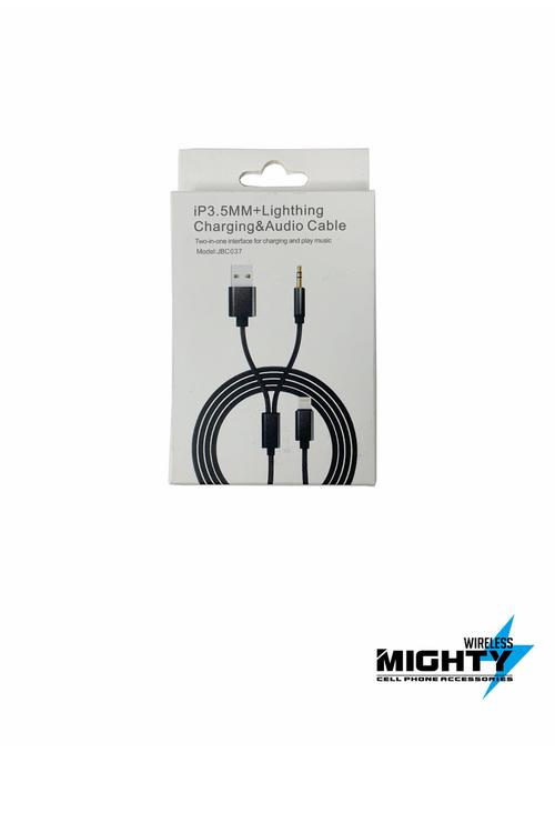 Lightning to USB and Auxiliary Cable for Iphones Wholesale-JBC037