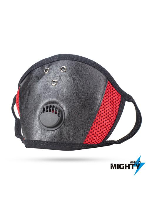 Leather Face Mask - Red - LEATHERMASK-RED