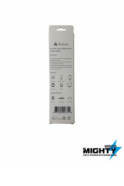 Lightning to Male Auxiliary to Male Auxiliary 3 in 1 Wholesale Cable for Iphones-MH030-B