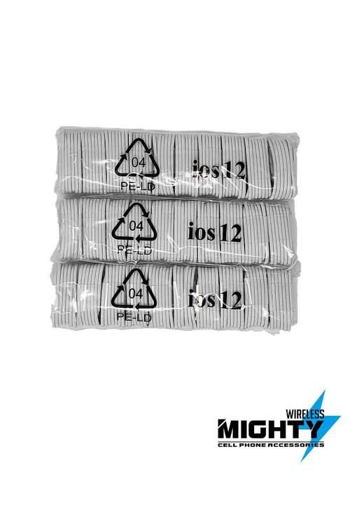 IOS 12 Iphone Cable 3FT PVC Medium Quality MW138