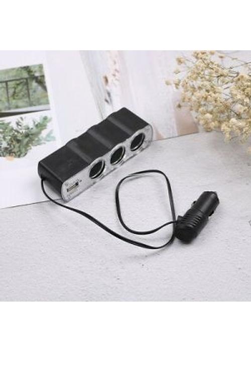 Generic WF-0120 1-to-3 Wholesale Car Cigarette Lighter Socket Splitter + USB Port - MW62