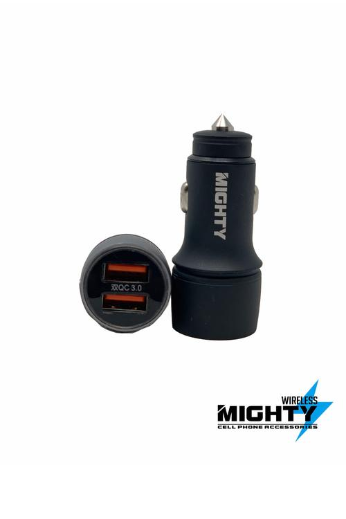 Alloy Dual Car Charger Mighty QC 3.0 MW221