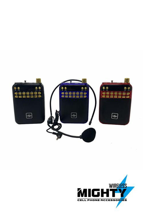 HOOKED Bluetooth Speaker AMFM with PA Microphone-PA268AMBT