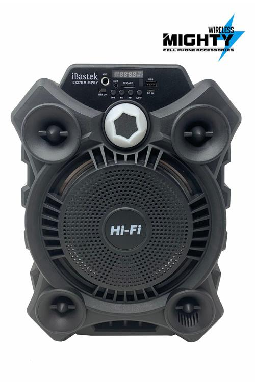 Ibastek 8 Inch plus 2 inch Speaker Bluetooth Wholesale with TWS Function and Microphone-0837BM-BPSY