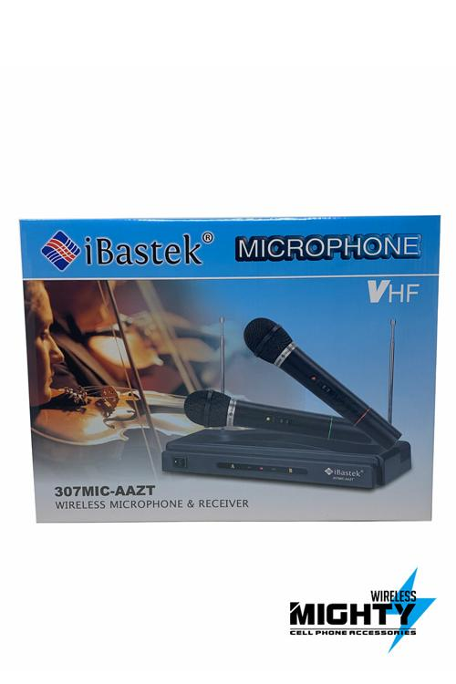 Two Wireless Microphones and Reciever For Large Speakers 307MIC-AAZT